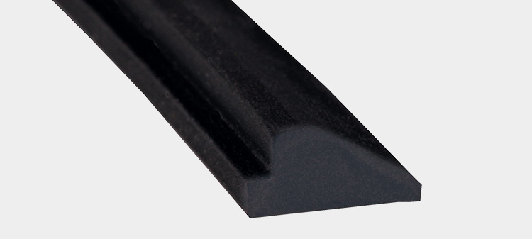 Solid rubber creasing profile C/3
