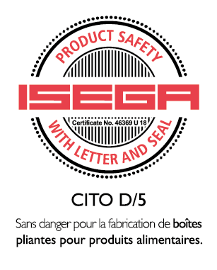 CITO D/5 certified for food packaging