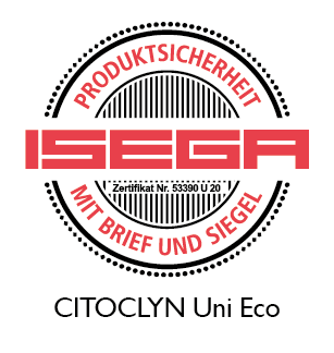 CITOCLYN Uni Eco certified for food packaging
