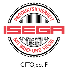CITOject F certified for food packaging