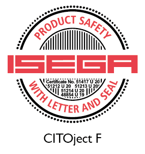 CITOject F certified as safe to manufacture food packaging