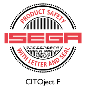 CITOjectF certified for food packaging