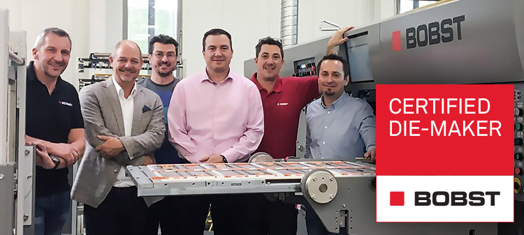 BOBST certificate for Bieling & Petsche Stanzformen GmbH, Austria with CITO high-performance tool