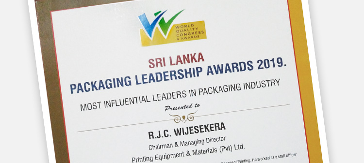 Sri Lanka Packaging Leadership Awards 2019! Srdečně blahopřejeme!